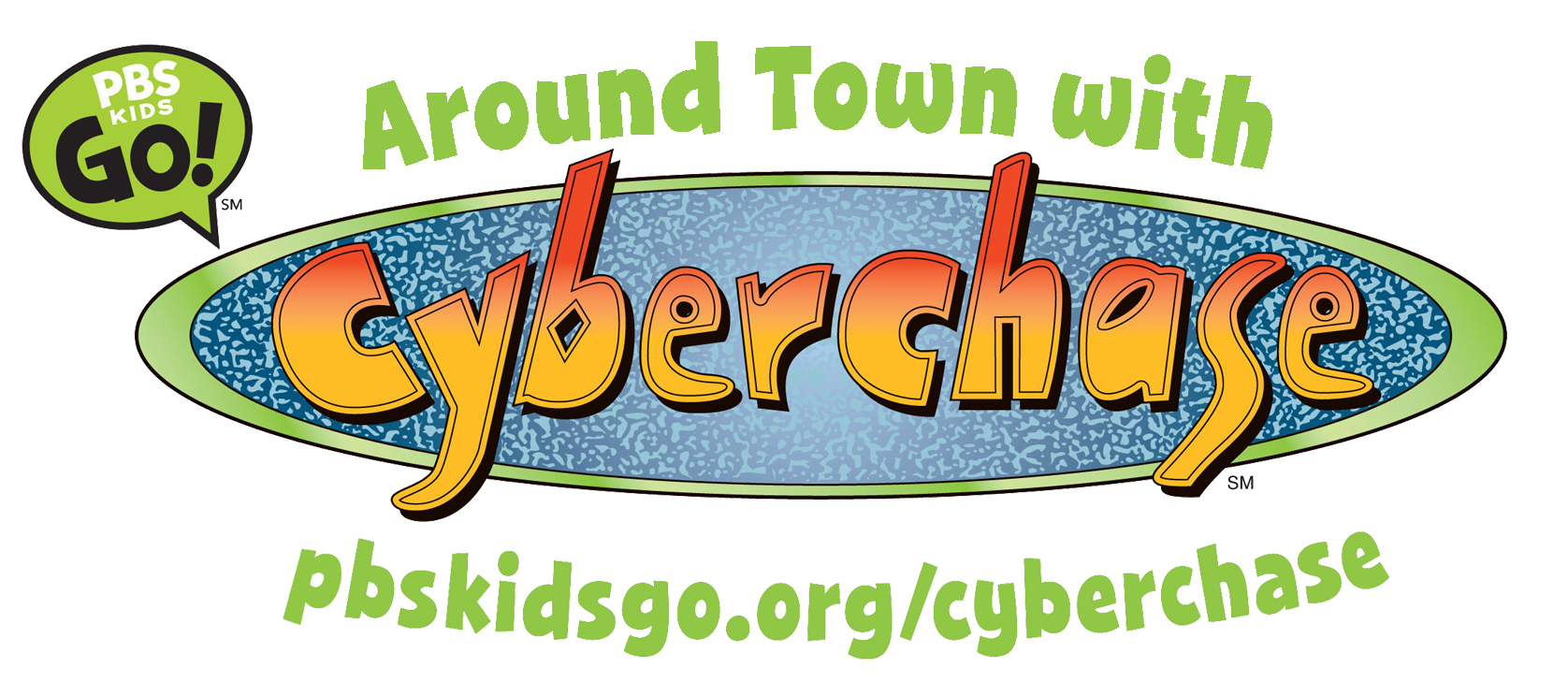 Around Town with CYBERCHASE logo