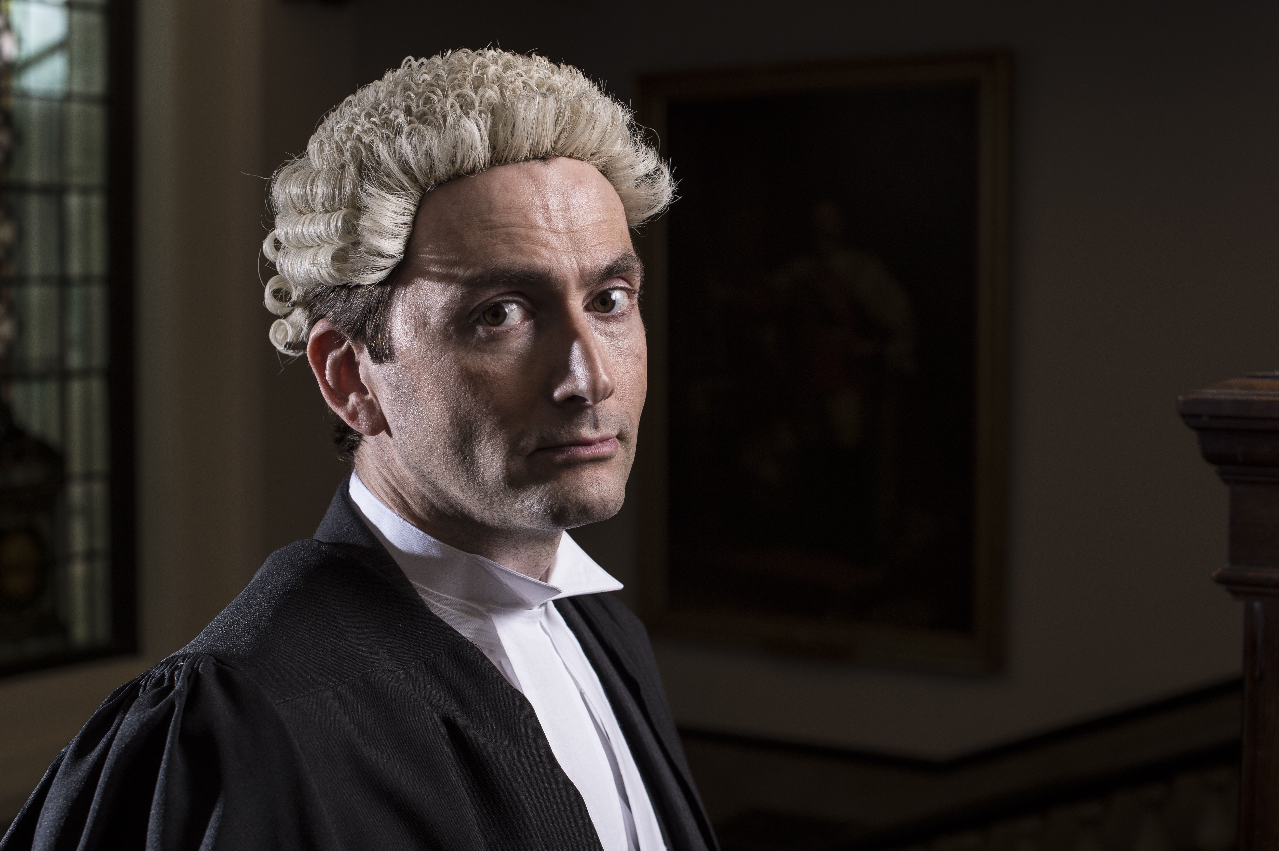 David Tennant in Barrister Wig